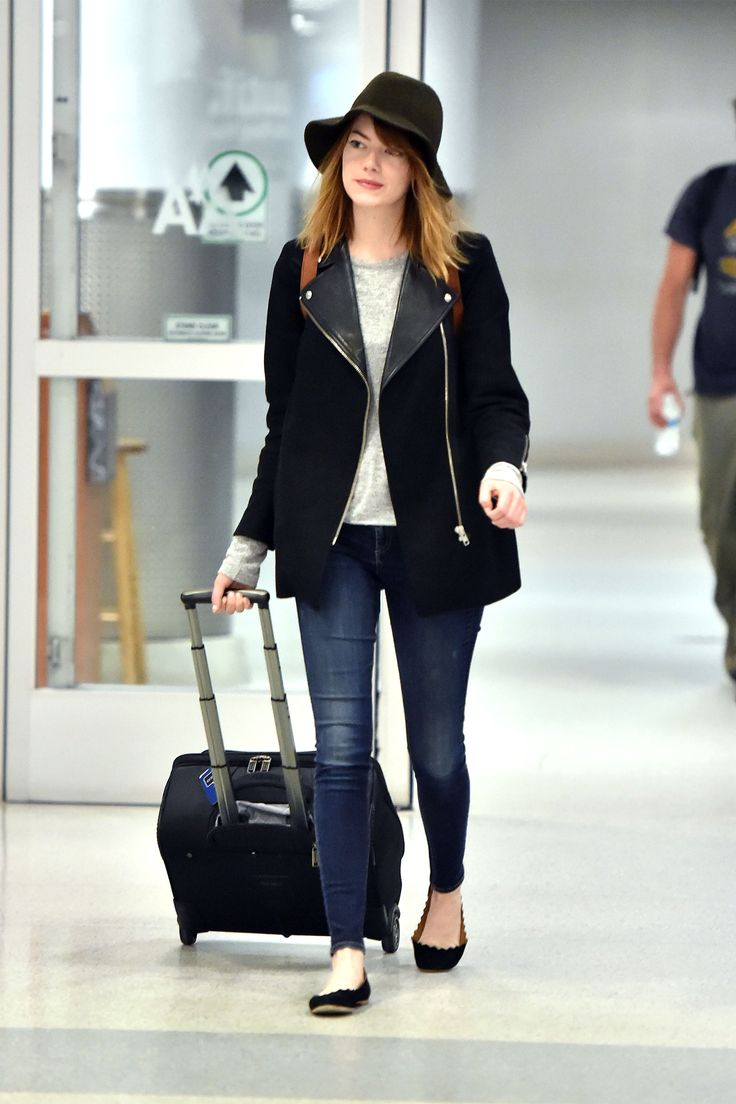 celebrities with the best airport style