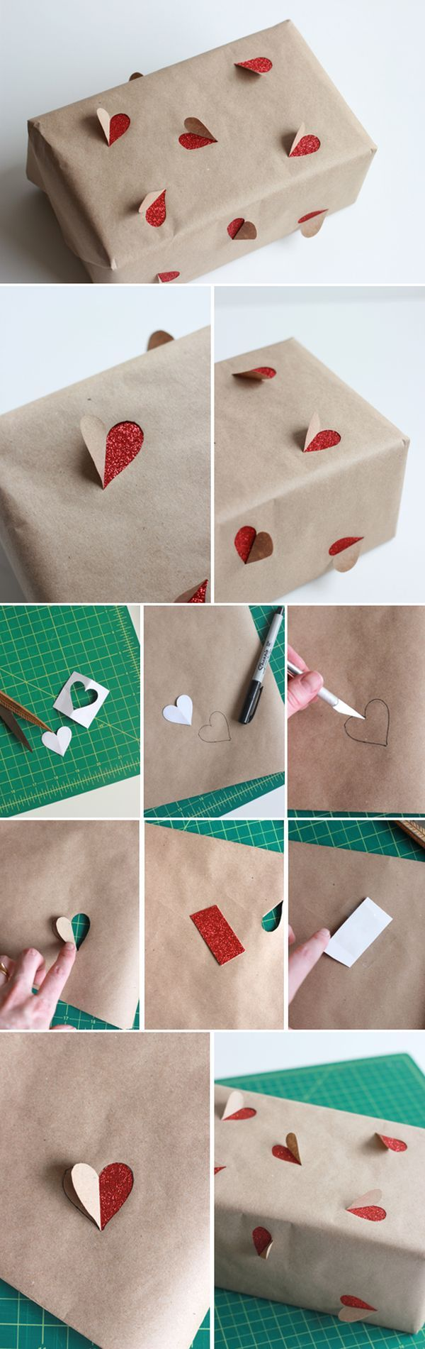 Super cute romantic themed wrapping idea, perfect for Valentine's Day / anniversary / wedding gifts.