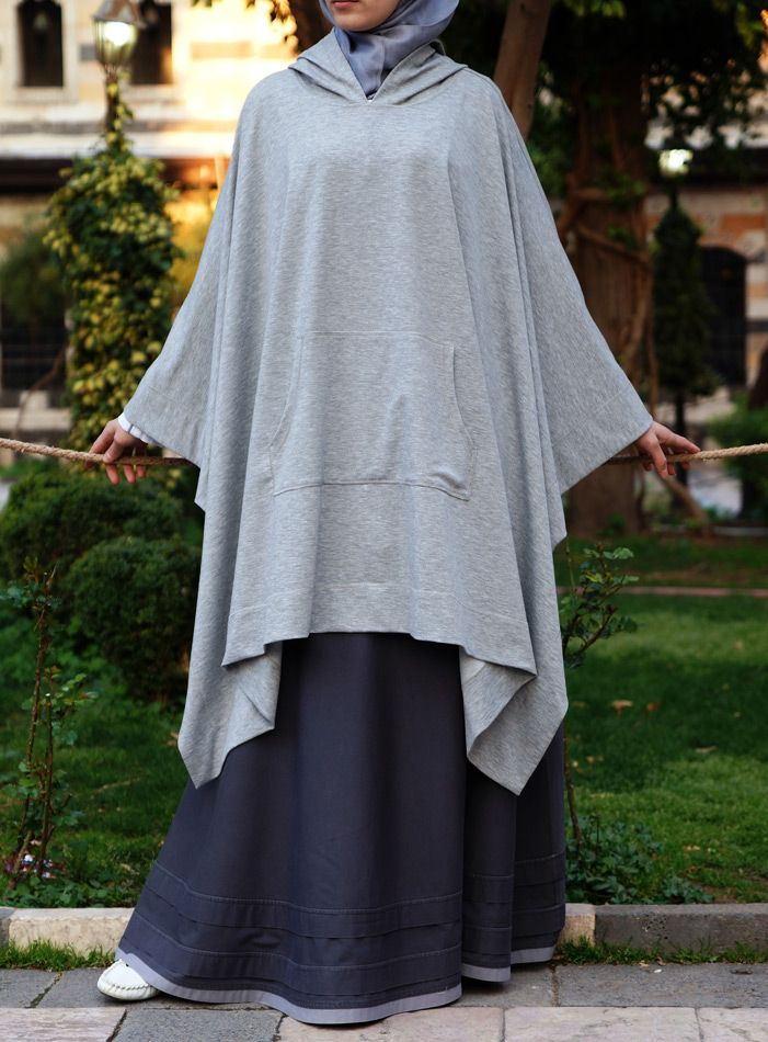 Hooded Poncho - looks easy to recreate