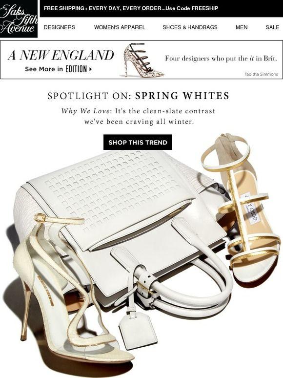 Spotlight On: SPRING WHITES - Saks Fifth Avenue