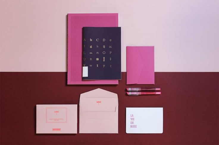 LE PACK ROSE   Le Typographe   Qualité typo plomb   Handmade in Brussels