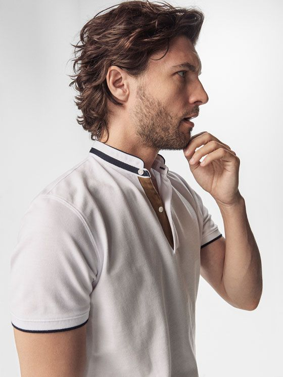 Autumn Spring summer 2017 Men´s PLAIN POLO SHIRT WITH CONTRASTING DETAILS at Massimo Dutti for 49.5. Effortless elegance!