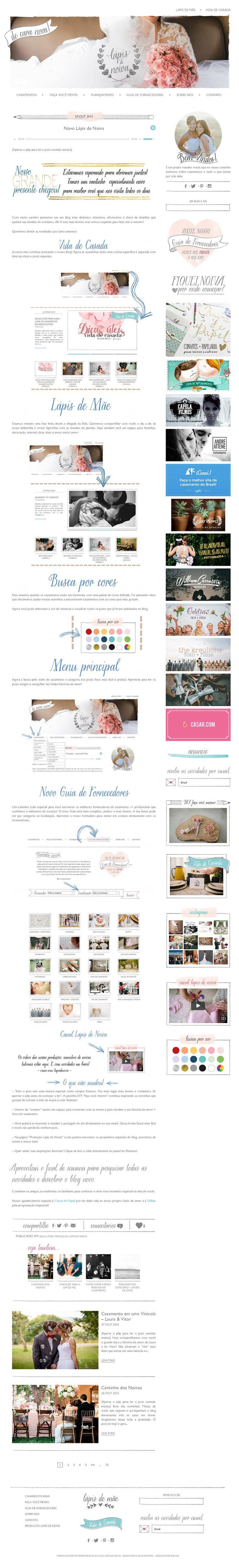Desenvolvimento do blog em WordPress, responsive.
