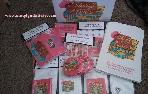 Sheriff Callie Personalized Party in a Box GREAT for Birthday Parties or Baby Showers