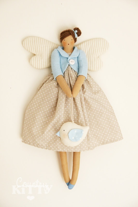 tilda angel doll by countrykitty