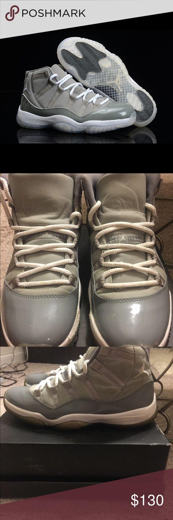 Authentic Jordan 11's cool grey/white. Authentic Jordan 11's cool grey/white sneakers. Gently worn. Good condition. Men's size 8 or Women's size 10. Jordan Shoes Sneakers
