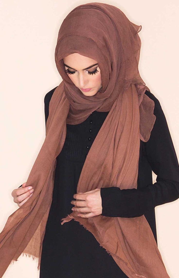 Pink Coffee Chiffon Silk Hijab | Aab