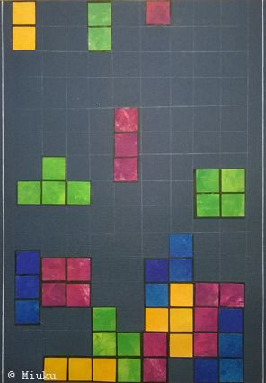 Mixed media Tetris