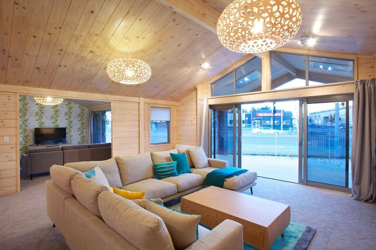 Living room and family room in new Lockwood show home in Hornby, Christchurch