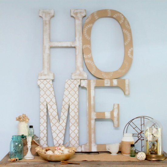 Get extra large art on a budget with this fun project. These huge paper mache letters make it easy to spell any word to make a statement.