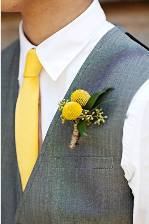 #wedding #yellow #matrimonio #giallo #groom #bride #sposo #sposa #boutonniere