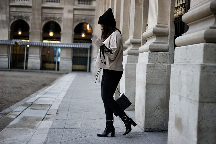 lace-up, sweat rose, sweat lacets, zara, blog mode, the green ananas, jogging zara, acne, bonnet acne, h&m, bottines vernies