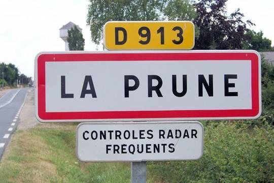 insolite controle pancarte prune radar