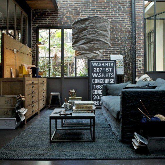 3 salon chic lustre moderne pas cher en tissu gris comment amenager le salon industriel