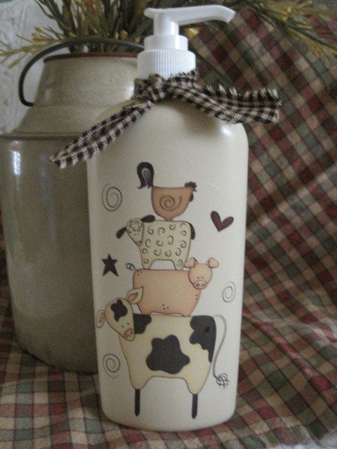 Liquid Hand  SoapPrim Farm Stack by CountryBumpkinBottle on Etsy, $8.50