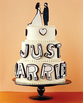 Pretty Self explanatory cake. I feel like i would end up with a cake like this cause it would please everyone. Not too girly, not too frilly, just perfect yet classy :)