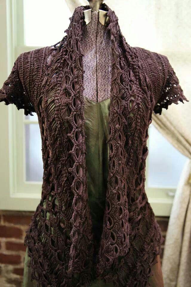 Knitting a beautiful new pattern...