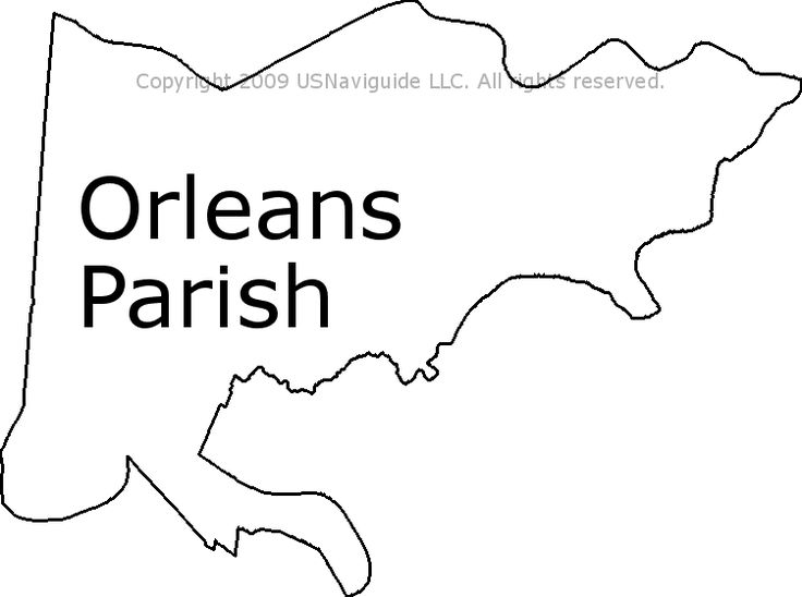 Orleans Parish - Louisiana Zip Code Boundary Map (LA)