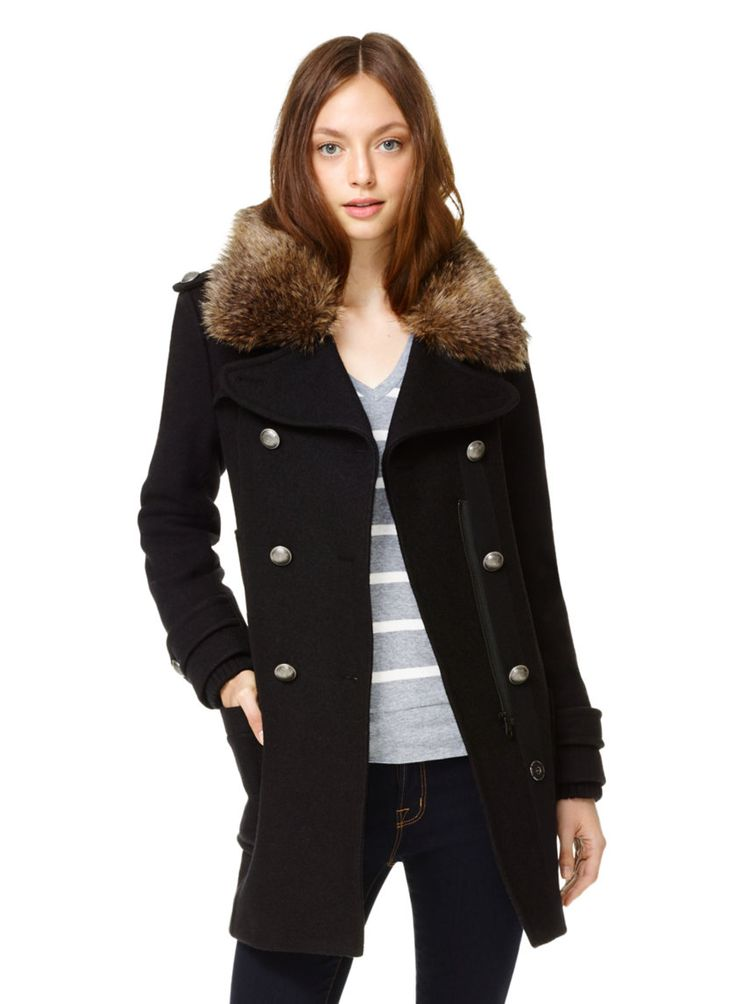 COMMUNITY CADET COAT - An earth-friendly winter topper tailored from recycled wool Aritzia