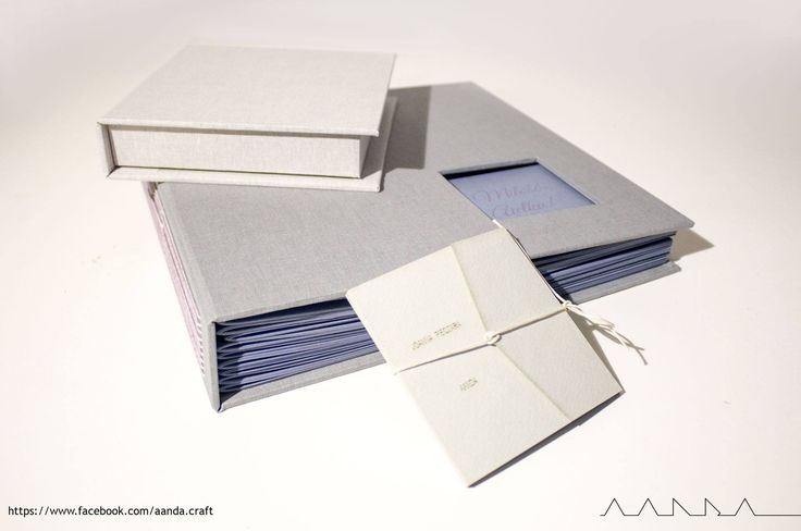 wedding photo album, guest box, and package for card