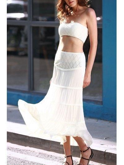 #AdoreWe #Zaful Zaful Tuve Top and Maxi Skirt Suit - AdoreWe.com