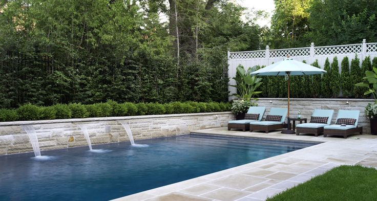 my all-time favourite swimming pool design via Artistic Gardens {Toronto}