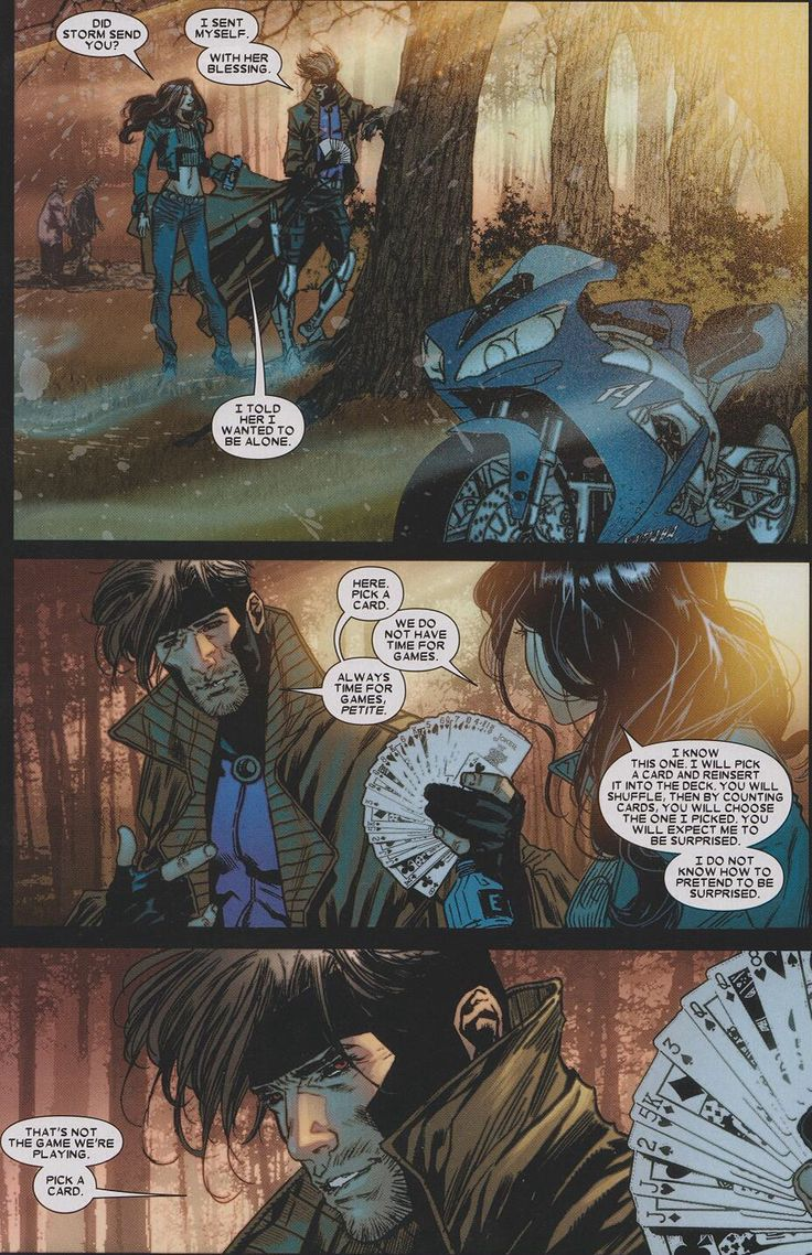 X-23 and Gambit playing games | Comic Panels | Pinterest X 23 Gambit
