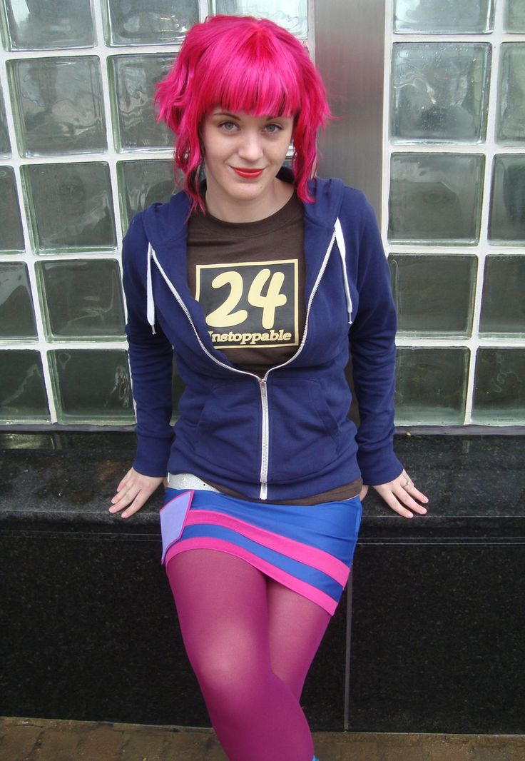 Ramona Flowers Inspired / Neon Puple Pink / Short A Line ...