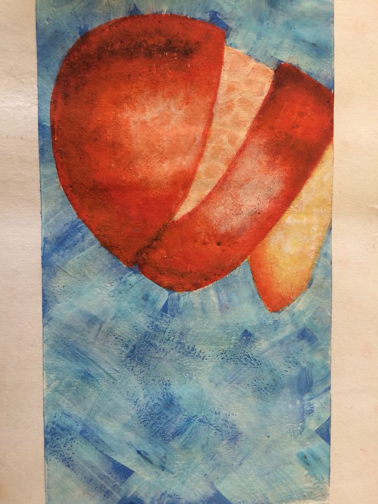 Acrylic paint, orange peel