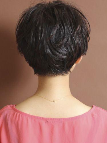 short hair back view love