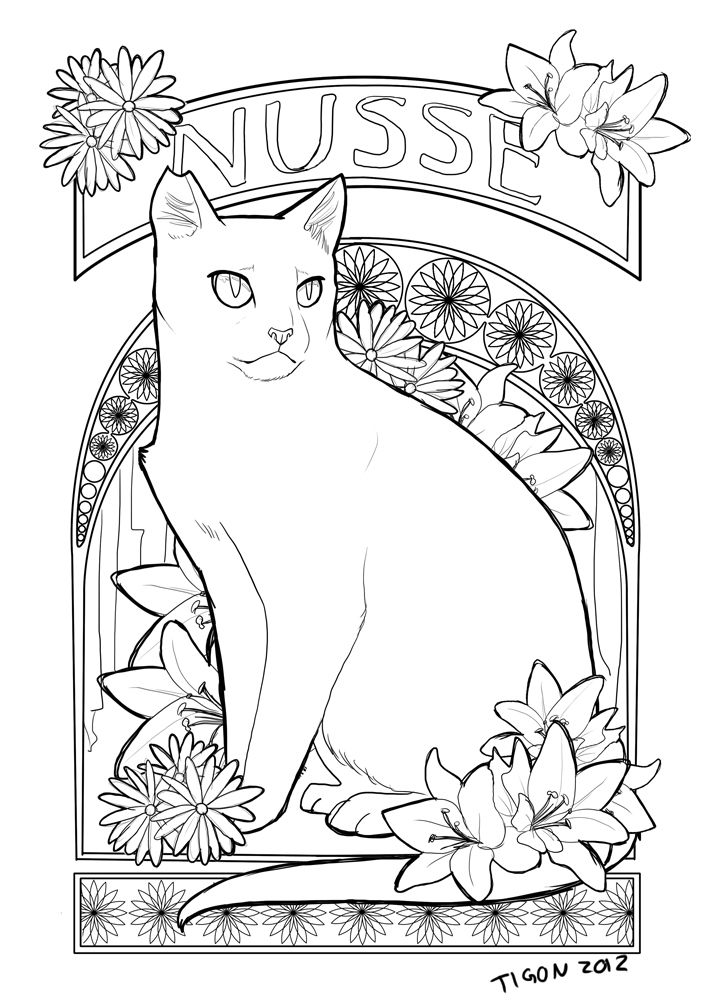 590 Best Color Pages Cats Images On Pinterest Coloring
