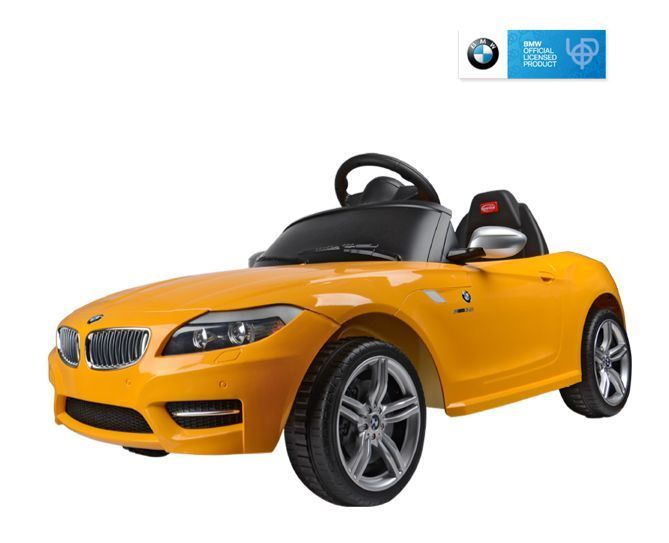 ride on toy battery yellow bmw z4 car for kids remote control mp3