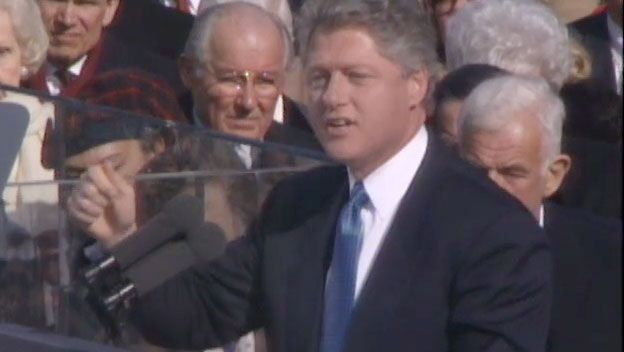 History channel impeachment story! Inaugural Address: Bill Clinton