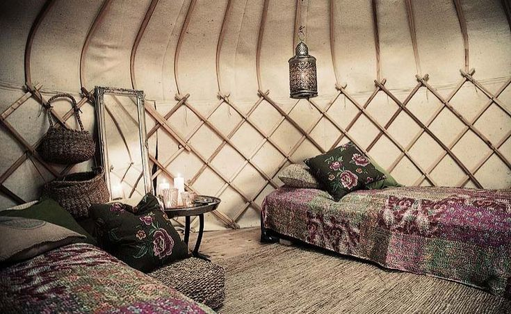 Yurt interior - Canvas Hotel, in Southern Norway, Norway