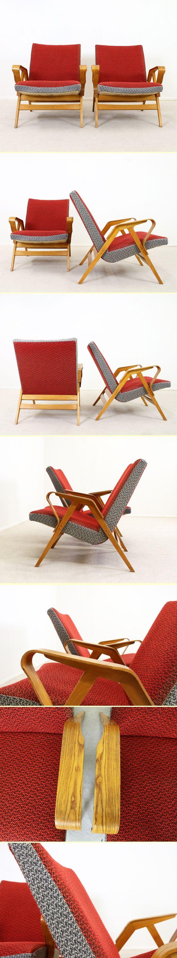 Two beautiful organic easy lounge chairs 1904