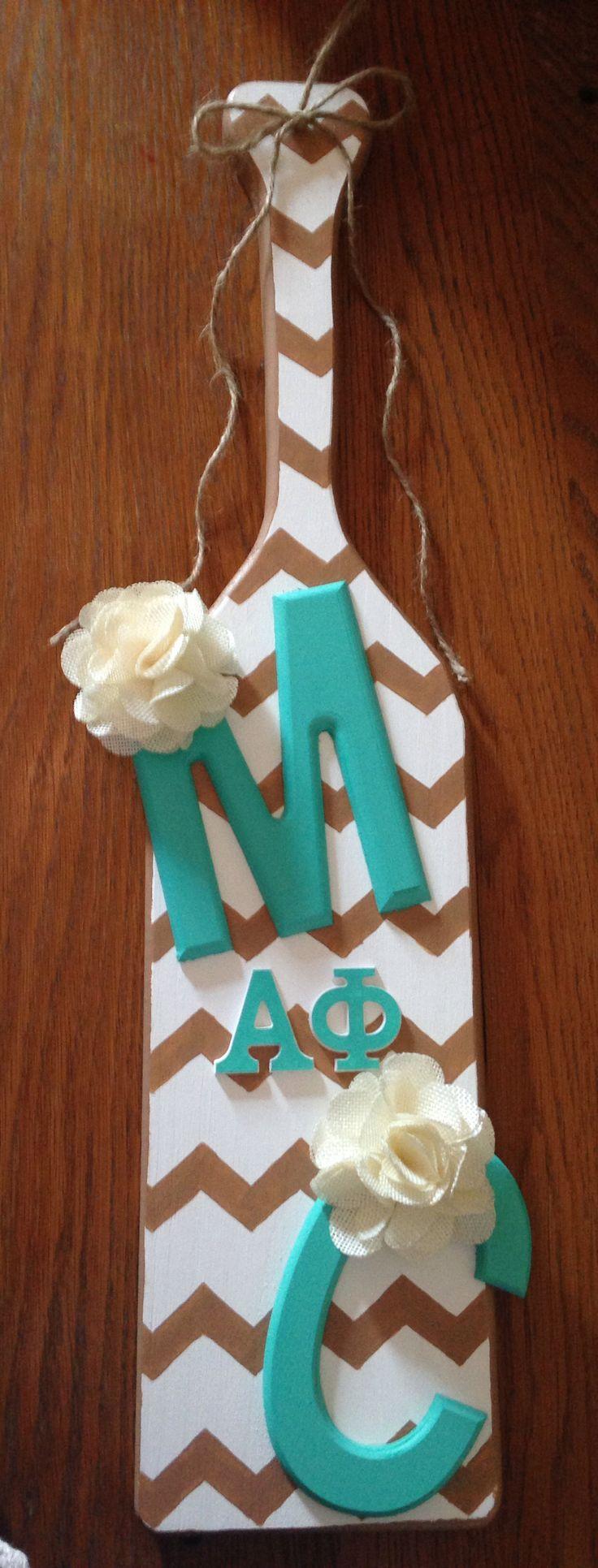 Birthday Alpha Phi paddle for Miranda!