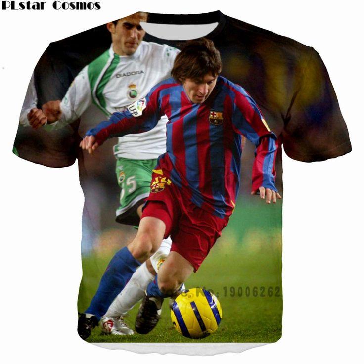 PLstar Cosmos Summer T-shirt Lionel Messi 3d printing T Shirt Men T-shirts casual short sleeve tops plus size 5XL Drop shipping #Affiliate