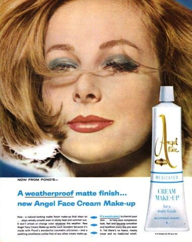 Angel Face Medicated Cream Make Up Ad 1962