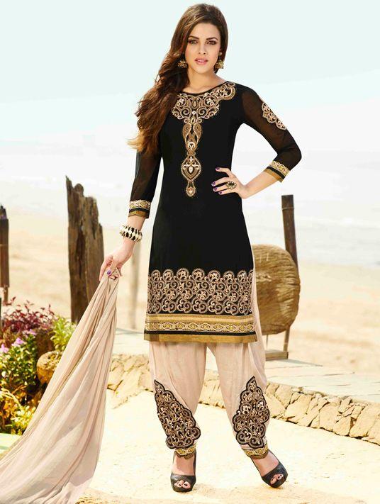 Black Georgette Punjabi Suit 48032  Punjabi Salwar Kameez -2983