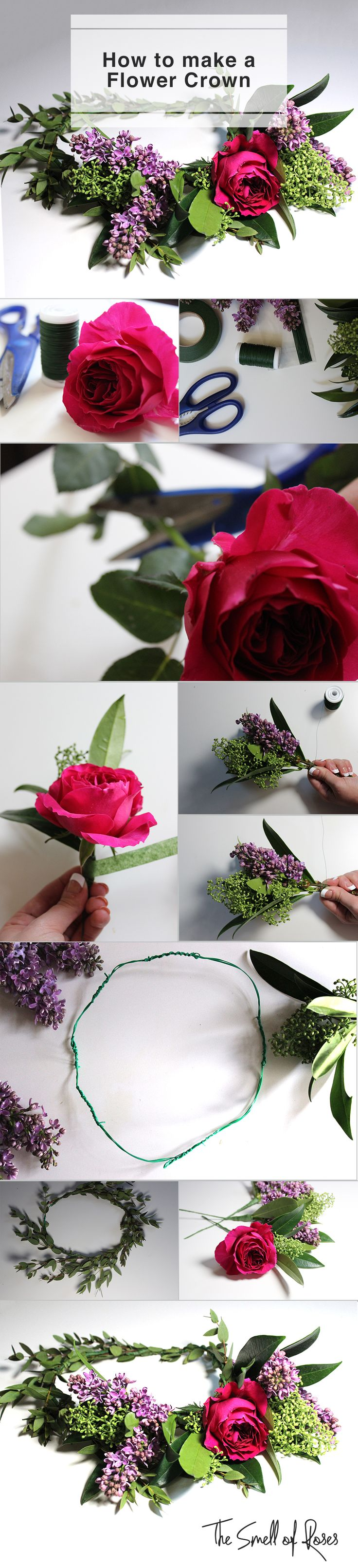 Flower crown DIY - tips & tricks - The Smell of Roses The Smell of Roses