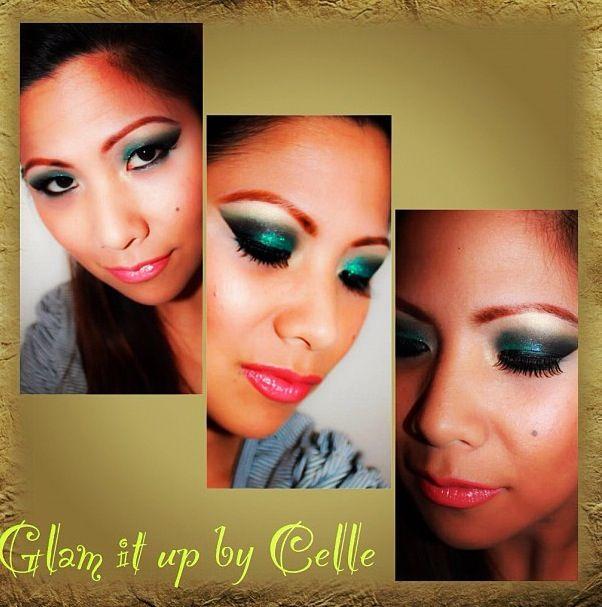 Glitter Green Eyeshadow