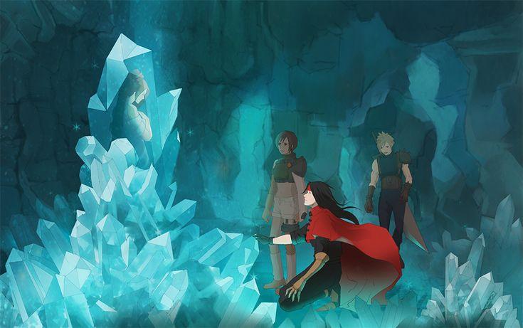 Lucrecia Vincent Yuffie Cloud Final Fantasy VII #FFVII 7 ルクレツィアの洞窟。クリスタルの中にいるのを見たときどんな気持ちだったんだろう。