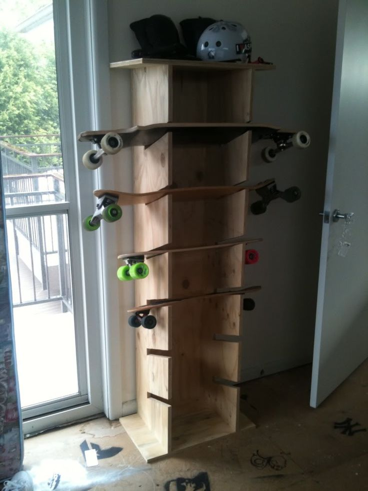 DIY Longboarding Rack - Skateboard Rack - Helmets - Wheels - Trucks - Longboard - Space Saver - Storage