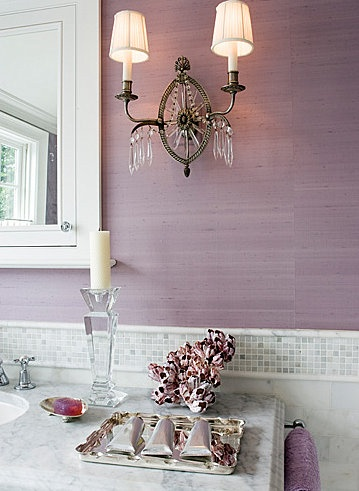 Love the purple with marble!