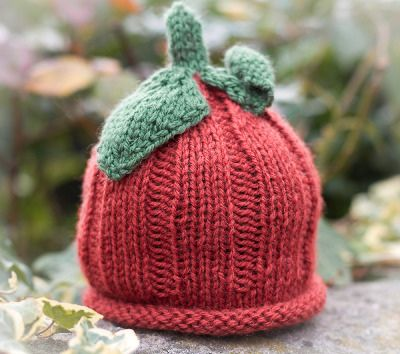Hand Knit Pumpkin Beanie Hat from Blueberry Barn Designs.