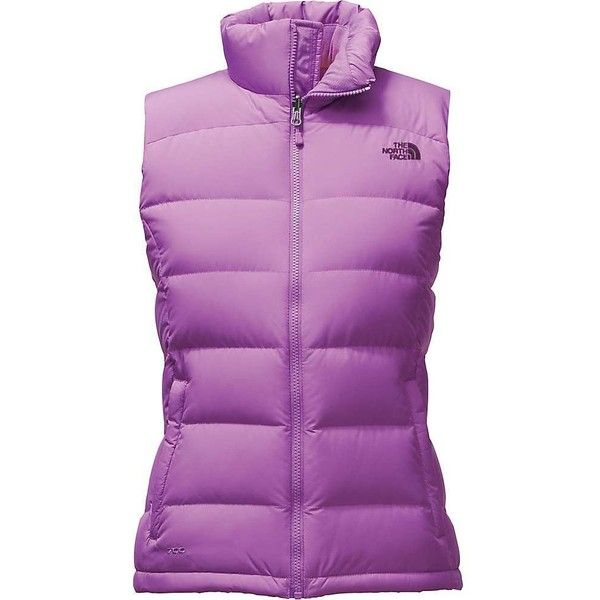 The North Face Women's Nuptse 2 Vest ($149) ❤ liked on Polyvore featuring outerwear, vests, bellflower purple, the north face, purple waistcoat, vest waistcoat, pocket vest and zipper vest