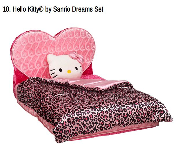 Hello Kitty heart bed