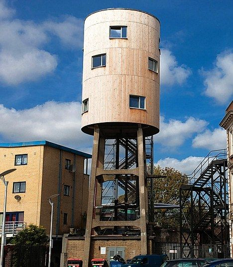 Tom Watson's converted water tower home in Ladbroke Grove, London  Def off site man cave potential