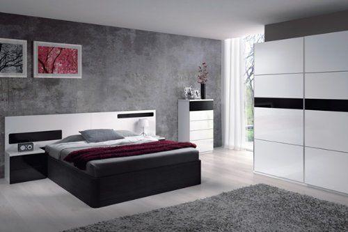 Un dormitorio joven y moderno perfectamente conjuntado en - Dormitorios blancos modernos ...