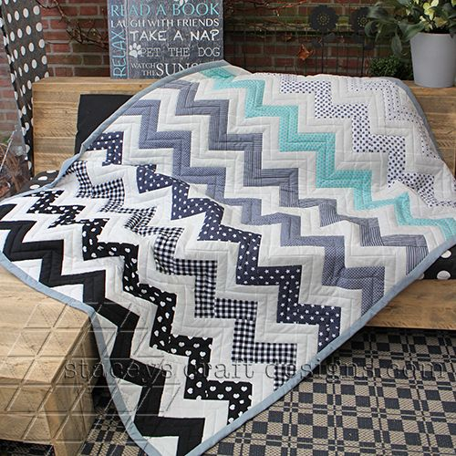Forty Shades Of Chevron Quilt by Staceys Craft Designs